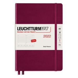 Kalender Leuchtturm1917 A5 Daily Planner Port Red 2022