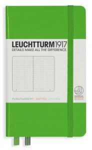 Leuchtturm1917 Leuchtturm A6 hard 185s Fresh Green dotted - Kalenderkungen.se