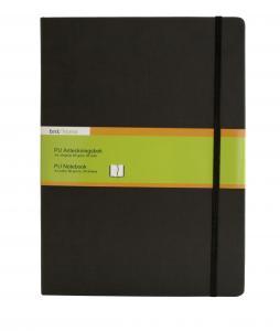 B.N.T PU Notebook A4 olinjerad Svart - Kalenderkungen.se