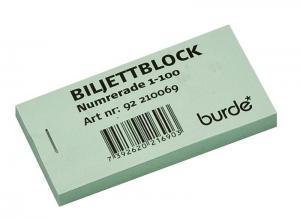 Biljettblock grön