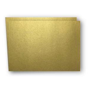 A7 Kort dubbla liggande 5-pack 220g Guld