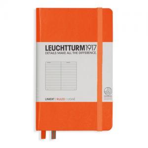 Leuchtturm1917 Leuchtturm A6 hard 185s Orange linjerad - Kalenderkungen.se