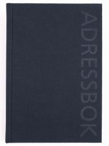 Telefon/adressbok i svart linnetextil A6