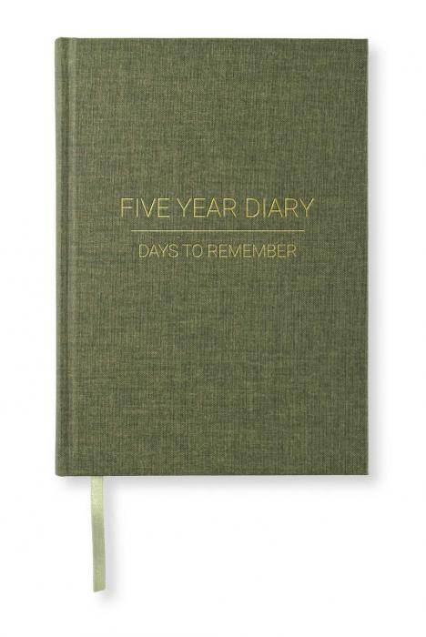 Paperstyle 5 Year Journal A5 Khaki Green - Kalenderkungen.se