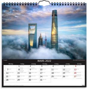 Väggkalender skylines 2022