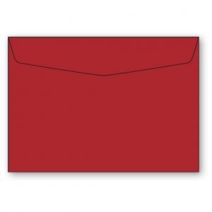 C6 Kuvert 5-pack 110g Röd
