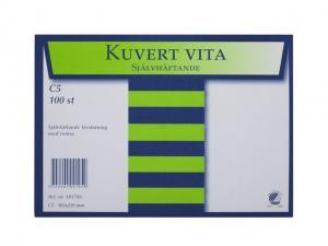Emo Kuvert C5 100st Vit självhäftande - Kalenderkungen.se
