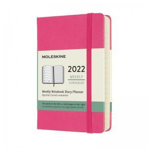 Moleskine Weekly Notebook Pink hard pocket 2022