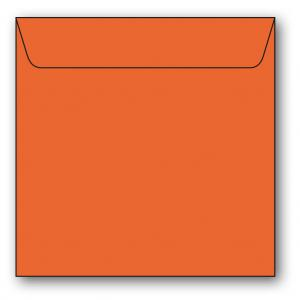 Papperix Kvadratiska Kuvert 5-pack 110g Orange - Kalenderkungen.se