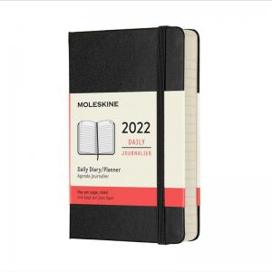 Moleskine Daily Black Hard Pocket 2022