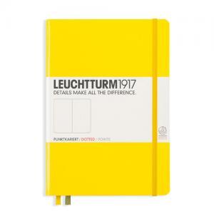 Leuchtturm1917 Leuchtturm Notebook A5 hard 249s Lemon dotted - Kalenderkungen.se