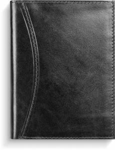 Kalenderplånbok Karavan svart skinn 2022