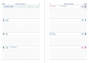 Kalender Letts Verona Mini V/U Svart 2022
