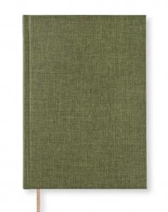 Paperstyle Notebook A5 dotted Textil Khaki Green - Kalenderkungen.se
