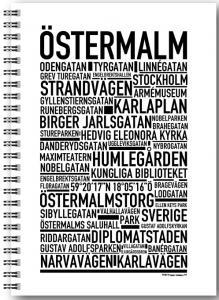 Anteckningsbok Östermalm