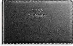 Veckokalender svart skinn 2022