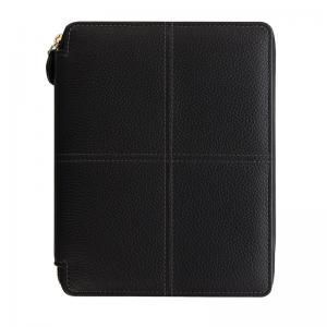 Classic Stitch Zip Folio Black