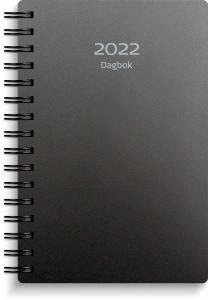 Dagbok svart plast 2022