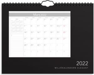 Miljokalendern elegant 2022