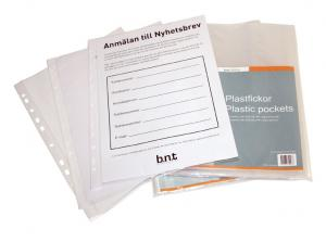 B.N.T Plastfickor A4 100st - Kalenderkungen.se