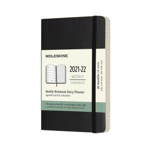 Moleskine Veckokalender Pocket soft 21/22 Svart