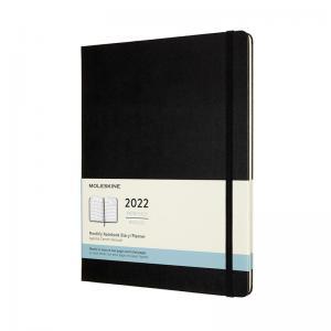 Moleskine Monthly Notebook svart hard XL 2022