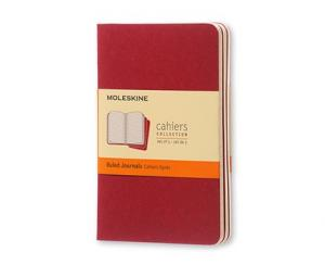 Moleskine Cahier Journal Pocket Ruled - Röd