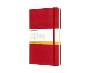 Moleskine Ruled Classic Notebook Large - Röd