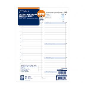 Filofax Dagbok dag/sida 2022