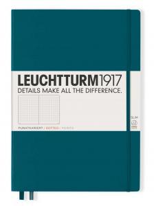 Leuchtturm1917 Leuchtturm Notebook A4 Slim Hard 121s Pacific Green dotted - Kalenderkungen.se