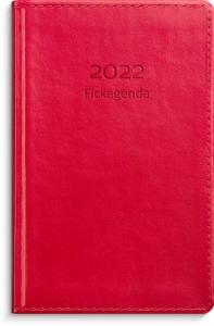 Fickagenda rött konstläder 2022