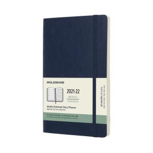 Moleskine Veckokalender L Soft 21/22 Blå
