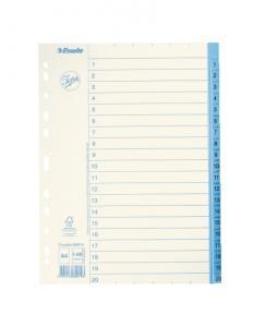 Emo Pappersregister JOPA A4 1-20 vit/blå - Kalenderkungen.se