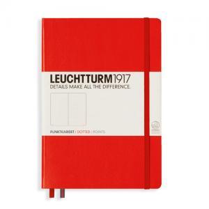 Leuchtturm1917 Leuchtturm Notebook A5 hard 249s Red dotted - Kalenderkungen.se
