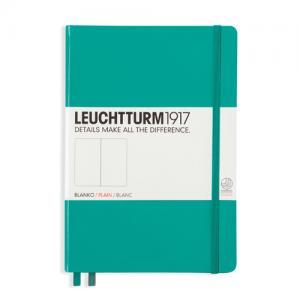 Leuchtturm1917 Leuchtturm Notebook A5 hard 249s Emerald olinjerad - Kalenderkungen.se