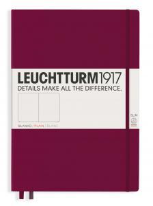 Leuchtturm1917 Leuchtturm Notebook A4 Slim Hard 121s Port Red olinjerad - Kalenderkungen.se