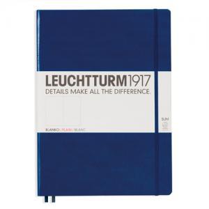 Leuchtturm1917 Leuchtturm Notebook A4 Slim Hard 121s Navy olinjerad - Kalenderkungen.se