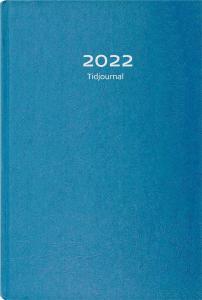Burde Förlag Tidjournal 2022 blå hård pärm - Kalenderkungen.se