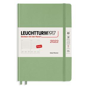 Kalender Leuchtturm1917 A5 Daily Planner Sage 2022