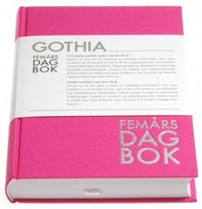 Rationella Media 5-årsdgabok rosa - Kalenderkungen.se