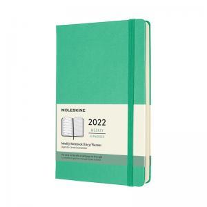 Moleskine Weekly Notebook Green hard Large 2022