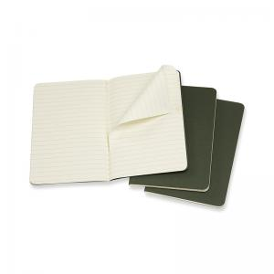 Moleskine Moleskine Cahier Journal Pocket Ruled - Grön - Kalenderkungen.se