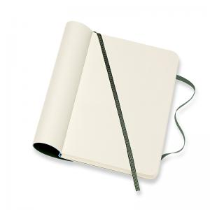Moleskine Moleskine Classic Soft Pocket Plain Notebook Myrtle Green - Kalenderkungen.se