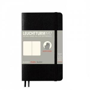 Leuchtturm1917 Anteckningsbok Leuchtturm1917 Soft A6 svart olinjerad - Kalenderkungen.se