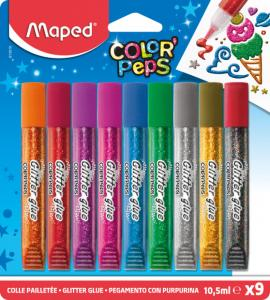 Lim Maped ColorPeps Glitterlim 9-pack
