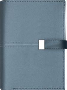 Systemkalender Regent blått konstläder Bari 2021