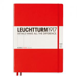 Leuchtturm1917 Leuchtturm Notebook A4 Slim Hard 121s Red olinjerad - Kalenderkungen.se