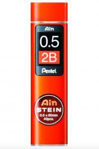 Pentel Blyertsstift AinStein 0,5mm 2B - Kalenderkungen.se