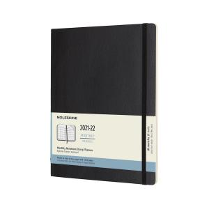 Moleskine Monthly Notebook XL svart soft 21/22