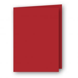 A7 Kort dubbla stående 5-pack 220g Röd